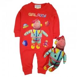 Costum salopetă și jucărie SA 8729