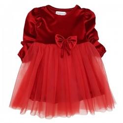 Rochiță roșie din catifea E 503