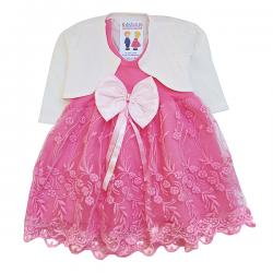 Rochiță roz cu bolero crem SA 5873